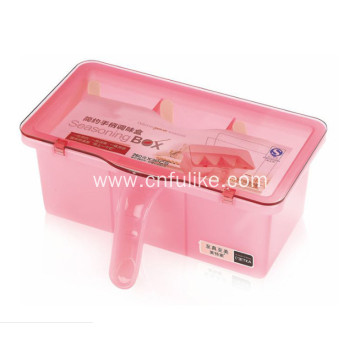 Three Containers Seasoning Box with Spoon