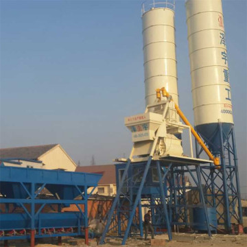 Stationary HZS75 concrete batching plant equipments for sale