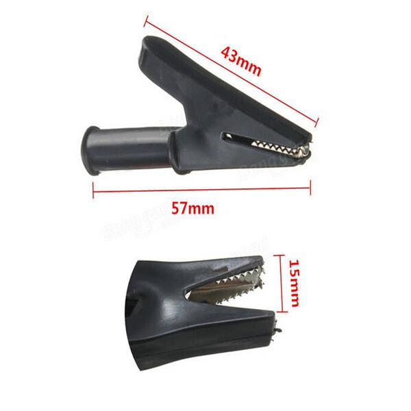 2Pcs 2000V 30A Crocodile Alligator Folders Safety Test Clips For 4mm Shrouded Banana Plug Electronics Stocks