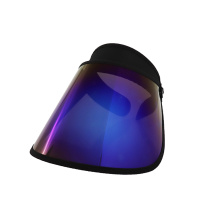 Purple visor hat wholesale uv face shield