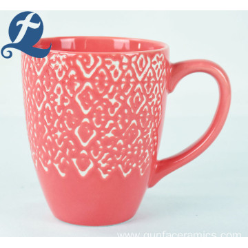 Wholesale Eco-Friendly Custom Printed Unique Ceramic Relief Mug