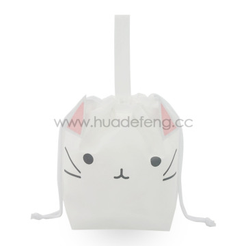 White Non-woven Purr-Fect Cat Party Handle Gift Bag