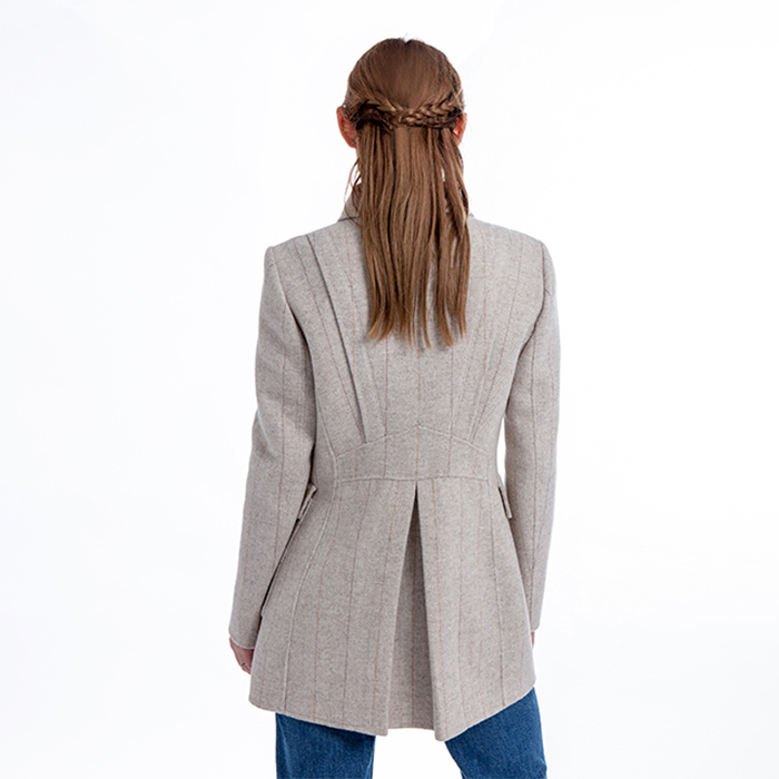 Fashion double-breasted cashmere overcoat