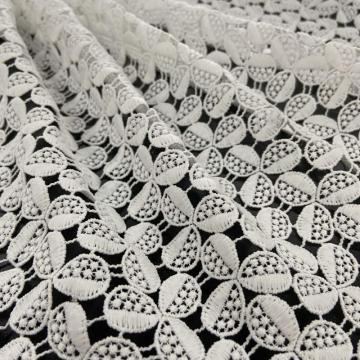 Shamrock Pattern of Chemcial Lace Embroidery Fabrics