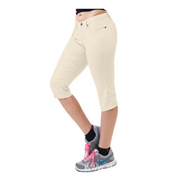 Women's Super Comfy Stretch Denim Capri Jeans