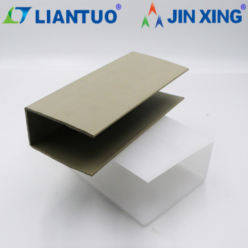3mm Gray Extruded Plastic U Shape Profile