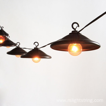 Vintage Metal Lampshade G40 Bulb Cafe String Lights