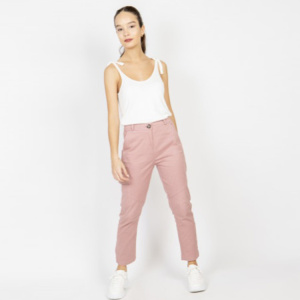 Pink trousers ladies autumn long pants women