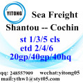Shantou Sea Freight Shipping Services to Cochin