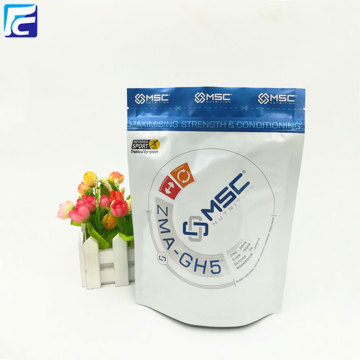 Laminated multiple layer plastic white empty flour bag