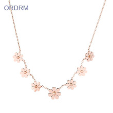 Small Flower Charm Statement Necklace For Grandma