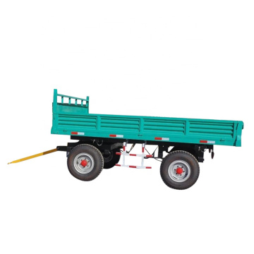 4 wheel 3 sides farm dump tipping trailer