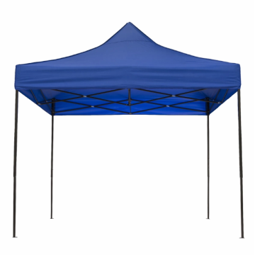 Folding tent with blue cover