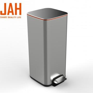 JAH Stainless Steel Foot Step Pedal Trash Can