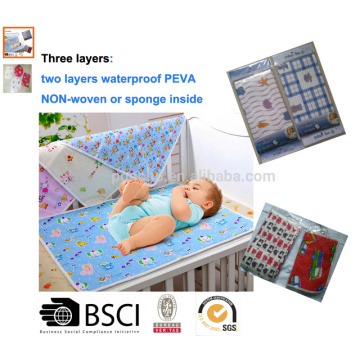 Plastic baby changing mat