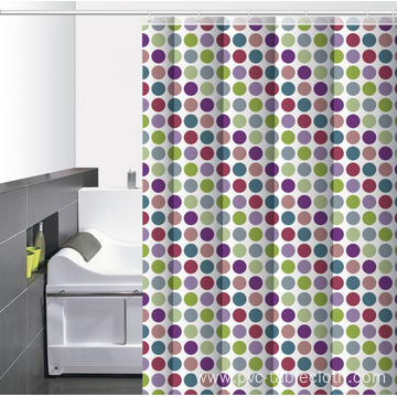 Waterproof Bathroom printed Shower Curtain 60 Inches Long