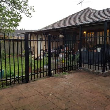 Beautiful steel palisade fence