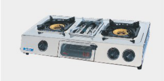 Double Burners Stainless Steel Gas Stove