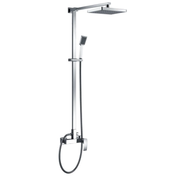 shower mixer with square shower spray