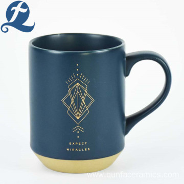 Customized Printed Constellation Coffee Cup Blue Ceramic Mug