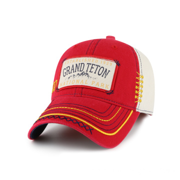 Cotton twill man cap with printing patch