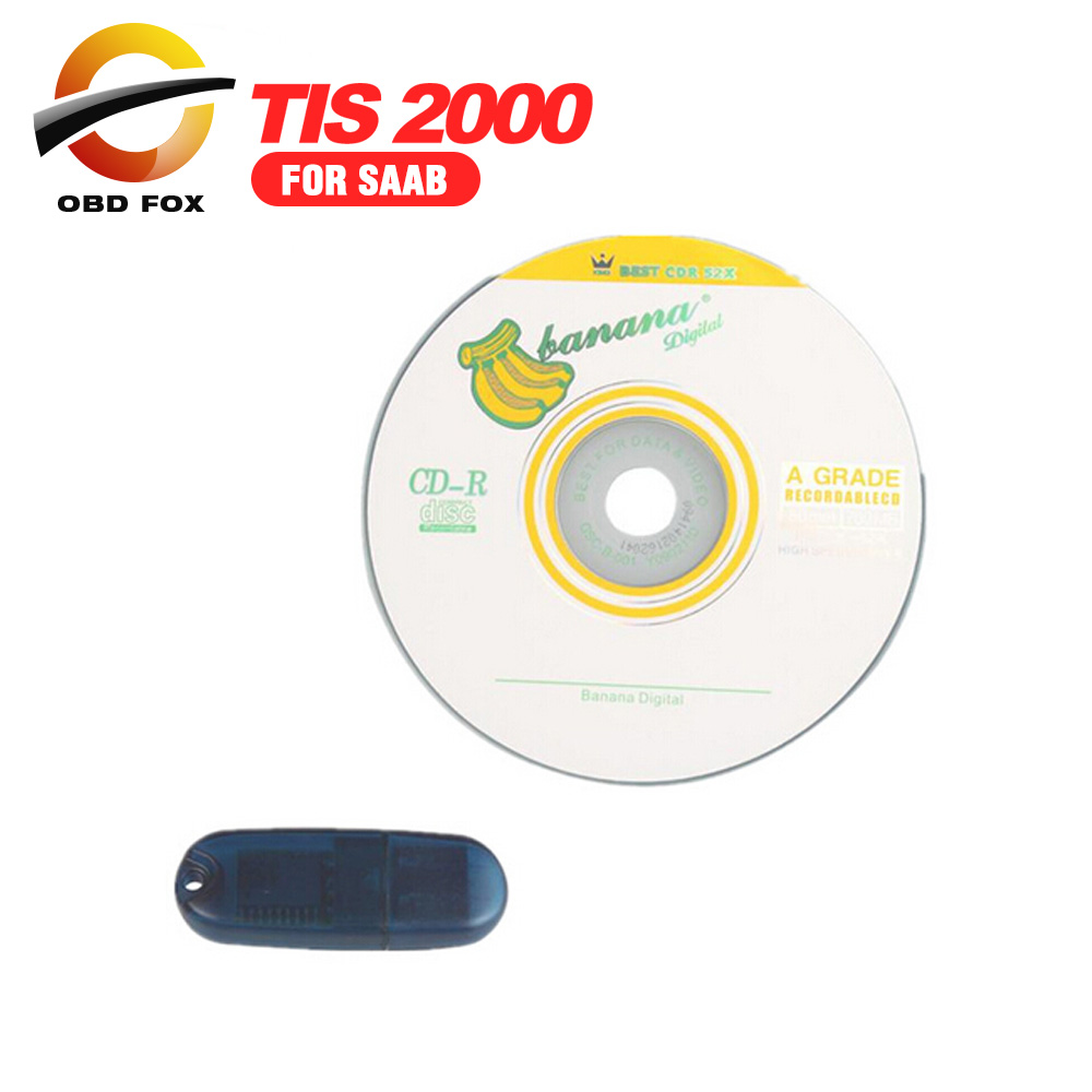 TIS2000 CD And USB Key For TECH2 for SAAB Car Model TIS 2000 Software USB Dongle TIS 2000 Dongle