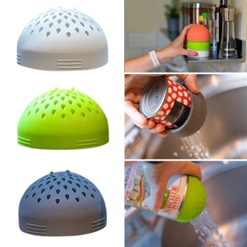 Multi-use Silicone Micro Kitchen Colander Can Drainer Lid Food Mesh Fast Cooking for Drain Chickpeas Kidney Beans Tinned Fruit