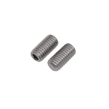 Steel Hex Socket Set Screws With Flat Point