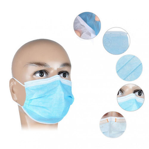 Disposable 3-ply Elastic Ear Loop Filter Mask