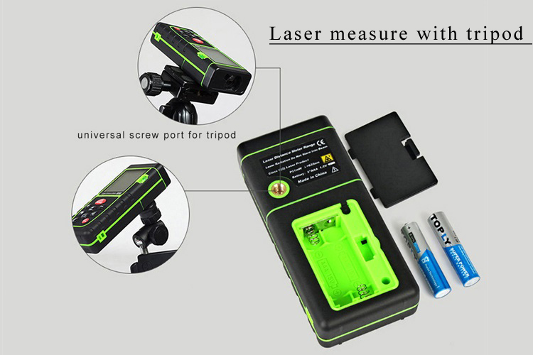 Laser measure with tripod