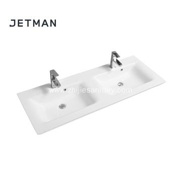 Clean shape wash basins double sink bathroom