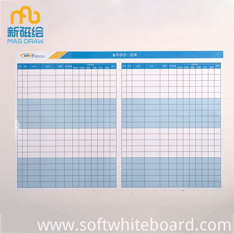 whiteboard schedule