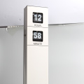 Long Pendulum Hanging Flip Clock White