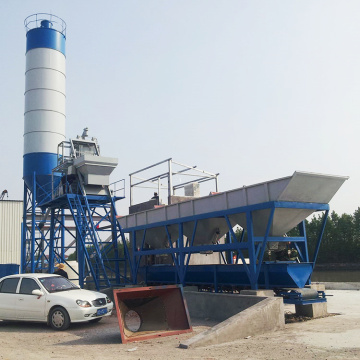HZS75 precast equipment fixed concrete batching plant