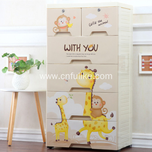 Colorful Plastic Drawer Cabinet for Bedroom