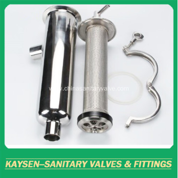 3A sanitary Welded angle-type strainer/filter