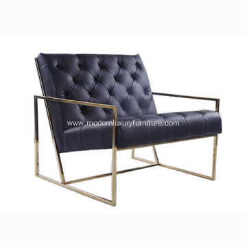 Thin Frame Tufted Lounge Chair Lawson Fenning