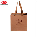 Custom kraft paper bag take away gift packaging