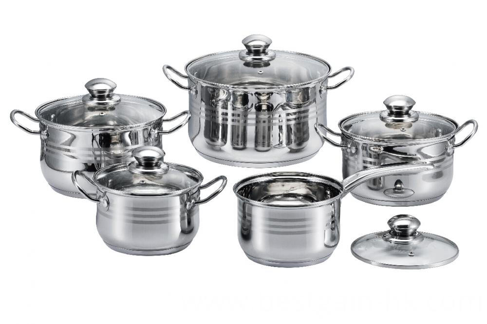 Stainless Steel 3-Ply Bottom Cookware Set
