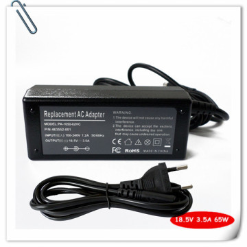 ac adapter charger For hp Compaq 6530b 6531s 6535b 6535s 6710b 6715b 6715s 6730b 6730s 6735b 6735s Laptop Power Supply Cord 65W