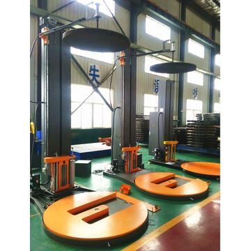 Horse Shoe pallet wrapping machine with top platen