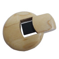 Top Quality Wooden Round USB Flash Drive
