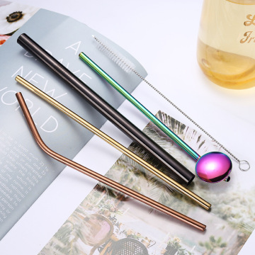 Drinking Boba Straw Stainless Steel Metal Straw