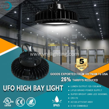 1-10v dimmable UFO LED Highbay light 150LM/W