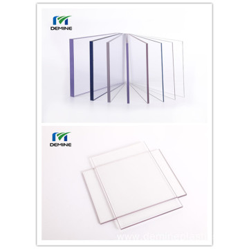 Polycarbonate clear sheet for plastic sliding doors