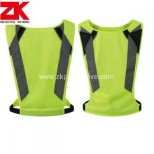 100% polyester high visibility reflective running vest