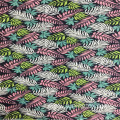 Rayon Big Leaves Print Fabric