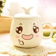 YEFINE 320ml Drinking Cup Cartoon Personalized Expression Coffee Mug Ceramic Cute Porcelain Tea Cup