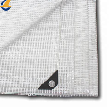 White Mesh Tarpaulin Fabric