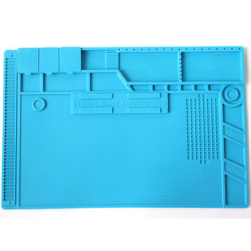 S-170 Insulation Pad Heat-Resistant Silicon Soldering Mat 480mm X 318mm Working Pad Desk Platform Solder Rework Repair Tools